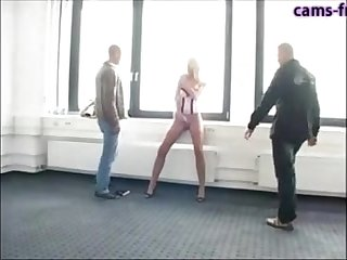Hot german milf fucked by two guys dp