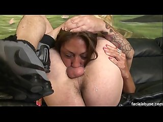 Beautiful cunt lucrezia pukes on cock for facefucking
