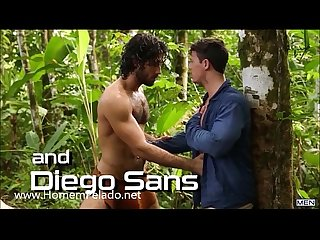 Orgia gay na floresta com tarzan