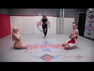 Petite nikki delano believes she can hold her own against will havoc in a mixed gender wrestling mat