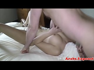 Hijab wearing beauty fucked and fed with cum