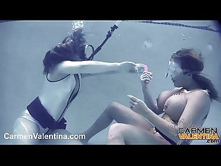 Carmen valentina underwater pussy licking with carey riley