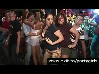Disco party footage with nude crazy girls