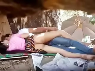 Myanmar spying young couple outdoor Sex 60