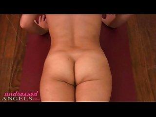 Tabitha doing naked yoga