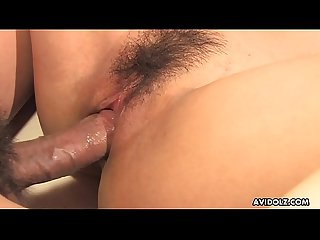 Handsome Japanese pornstar Aiko Nagai pussy drilled hard and fast