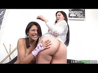 Lovely latinas cici amor and rita defortuna having lesbian session