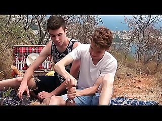 Twinks Abel Lacourt & Gabriel Lambert are fucking outdoor