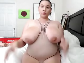 Thick bbw showing big ass and tits free on cam