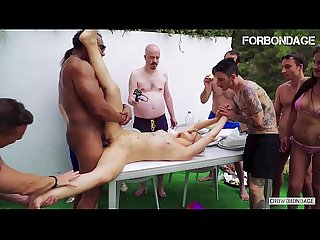 FORBONDAGE - Xtreme BDSM Group Sex On The Backyard With Selvaggia & Franco Roccaforte