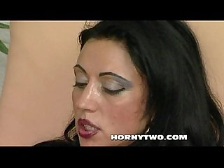 Super sexy young brunette stepdaughter taken hard in wet pussy