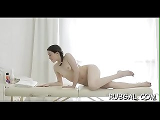 Naked gal massage