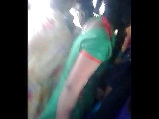 Lesibian boob grab in bus 2