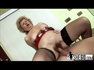 Old granny fucking with younger lover hi 3