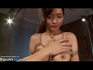 Japanese beauty in stockings hard bondage sex