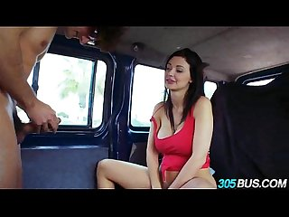Big titty beauty aletta ocean fucked on the 305bus 4