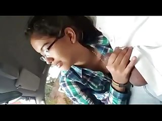 Desi girl sucking driver small dick