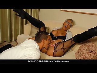 XXX OMAS - Hardcore German amateur fuck with mature blondie Lana Vegas