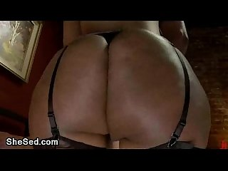 Great ass black tranny bangs tied guy
