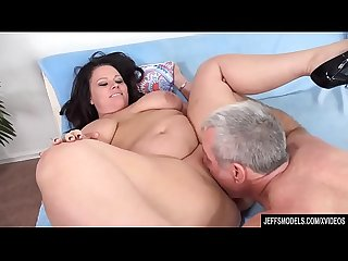 Full Figured Crystal Valentine Sucks a Fat Cock Before Being Fucked with It
