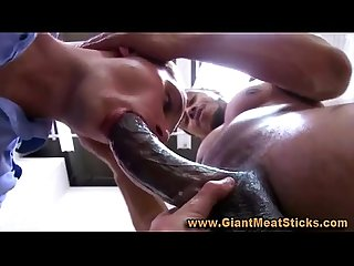 Gay big black cock blowjob