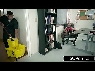Sexy Teacher Tegan James fucks the janitor