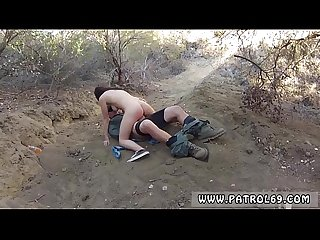 Gorgeous shemale gives a blowjob xxx Mexican border patrol agent has