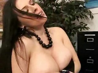 Billy's Boss Lets Him Suck Her Big Natural Tits