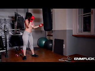 Gym Fuck Masturbation makes nekane s big tits sway and her pussy wet