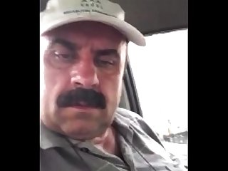 Turkish Straight daddy Show Cock in Car