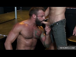 Gay Bar After Hours - Big Drake Masters Blows James Steven's Fat Cock