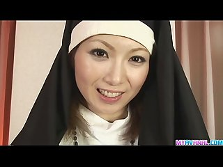 Unholy nun fucking rika sakurai gets it in the ass