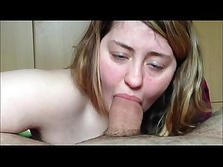 Fat chick giving head and swallowing