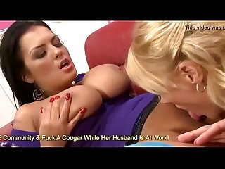 Boobed jasmine black and stacey saran in hot scissoring