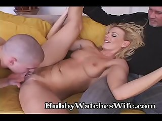 Hubby Supports Wife Fucking Young Guy
