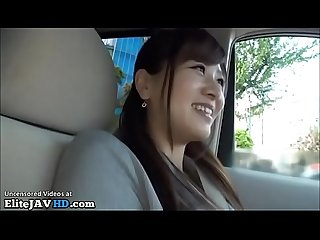 Japanese brunette in uniform car sex more at elitejavhd com