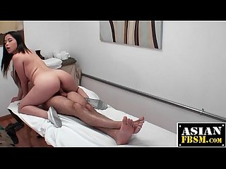 Asian Masseuse Rides and Sucks Dick
