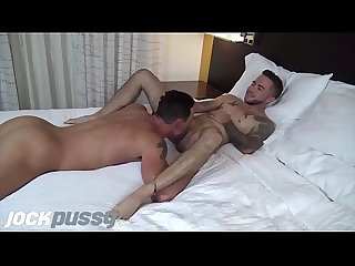 JockPussy - Tatted FTM jock fucked hard by hot stud after swapping oral