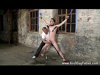 Gay boy sex in room Sean McKenzie is strapped up and at the grace of