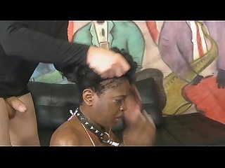 Two White Guys Face Fuck The Wig Off Of Ebony Slut
