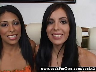 Latina Cassandra cruz Vs Mexican lorena sanchez cock for two