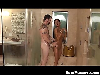 Tattooed Milf alyiah stone nuru Massage