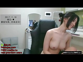 Korean bj beauty masturbates in red live at livekojas com