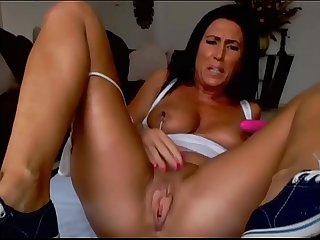 Milf cam show with young man