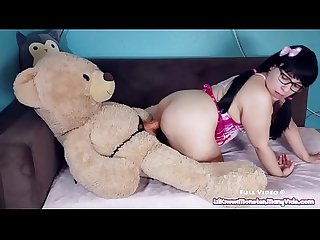 Play time with kiwwi teddy bear fuck excl