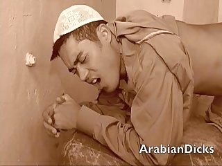Hot arab rim job