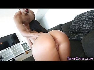 Amateur gets ass creamed