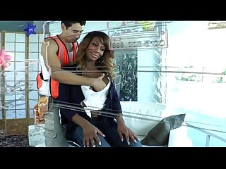 Yummy black tranny chastity michaels gets her tight ass pounded