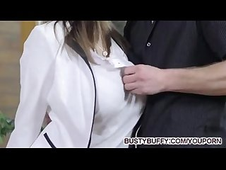 Busty Buffy fucks for cum on tits.
