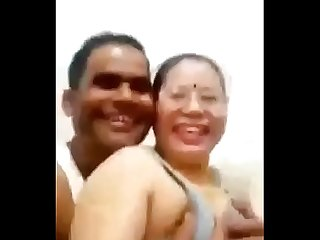 Desi couple pressing boobs